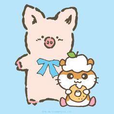 Zashikibuta and the hamster Corocorokuririn ஐ(❛ัૢᗜ❛ัૢ))ஐ