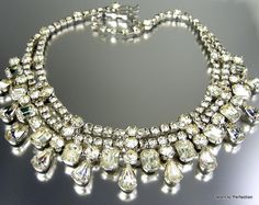 Vintage Eisenberg Ice Rhinestone Necklace