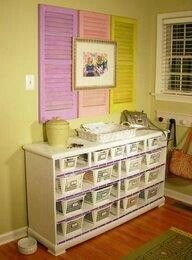 I love the shutters on the wall, for Emma's room,, and I have lots of shutters!!!
