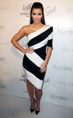 Love! Chevron dress - not sure I could rock it the way Kim Kardashian does