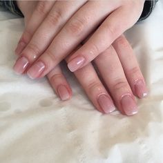 These are my perfect nails! They're acrylic but so natural looking. My nails are naturally squoval so I'd want them slightly more rounded. Need them in my life!