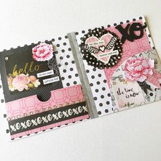 PINK BLACK WHITE SNAIL MAIL FLIP BOOK