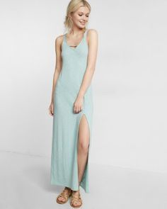 Cut-out Front Maxi Dress