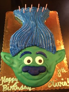 Branch Trolls Birthday Cake