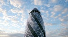 Guest can be shown round St Mary Axe (The Gherkin) on a first come first served basis on Sunday from London Architecture, London Calling, Travel News, Axe, Mail Online, Daily Mail, Open House, Skyscraper, Sunday