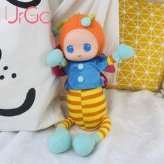 kawaii plush stuffed animal cartoon bee sleeping baby appease dolls kids toys for children cute Christmas Birthday Gifts URGE
