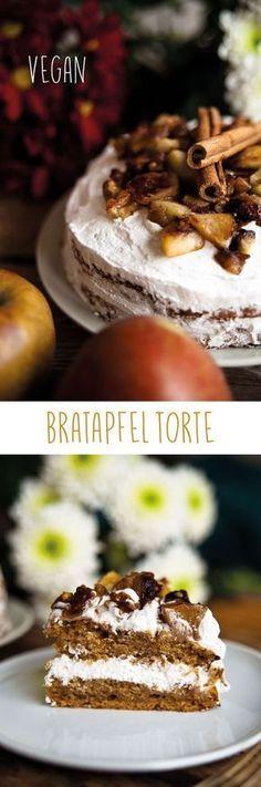 Bratapfeltorte und vor allem die Gewürzsahne (vegan) Baked apple cake vegan Baked apple pie with quarkBaked in the apple! Simple Muffin Recipe, Healthy Muffin Recipes, Healthy Muffins, Donut Recipes, Vegan Recipes, Pie Recipes, Sweet Recipes, Baking Recipes, Desserts Végétaliens
