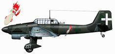 Junkers Ju 87B2 Stuka Picchiatelli ANR 96 Gruppo 237a Squadriglia WNr 5688 Lecce Galatina 1940