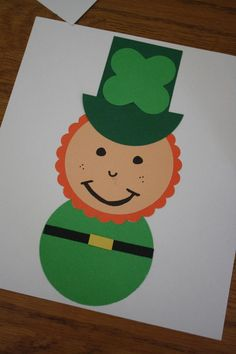 Leprechaun craft. Love the connection to shapes! :)