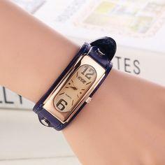 Hot Sale Fashion Vintage Watch Women Wristwatch Leather Strap Quartz Watch Ladies Watch