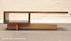 """""""Cupertino"""" cantilevered coffee table from CA-based J.Rusten studio."""