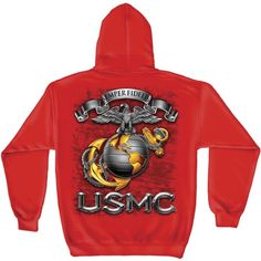 USMC Eagle Globe & Anchor Hooded Sweatshirt | [ eMarinePX.com ] #USMC #Marine #Clothing