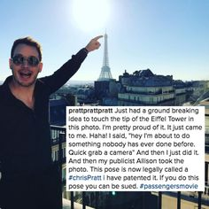 And luckily for us, Chris has been keeping us updated on their whereabouts via Instagram.   Chris Pratt Keeps Cropping Jennifer Lawrence Out Of His Pictures