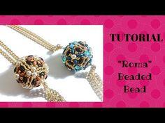 "Tutorial perline: sfera rivestita ""Twist""con superduo Beading tutorial:""Twist"" beaded bead - YouTube"