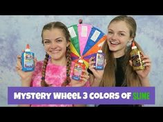 Mystery Wheel 3 Colors of Slime Challenge ~ Jacy and Kacy Karina Garcia, Slime Videos, Mystery, Challenges, Youtube, Fun, Color, Colour, Youtubers