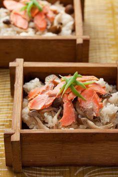 せいろ蒸し(甘塩鮭) Food Presentation, Rice Recipes, Japanese Food, Lunch Ideas, Pasta Salad, Sushi, Side Dishes, Food Porn, Goodies