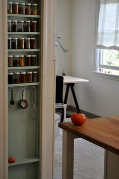 Small Built-In Storage You Can Squeeze Between Wall Studs (Apartment Therapy Main) Wall Spice Rack, Spice Storage, Diy Kitchen Storage, Wall Storage, Built In Storage, Diy Storage, Storage Ideas, Spice Racks, Kitchen Pantry