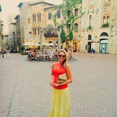 Dagmar Gabulová Colorful #sangimignano memories 🍝🍷🍦🇮🇹
