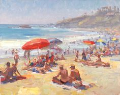 A Day at the Beach, Oil Painting by Kevin Macpherson