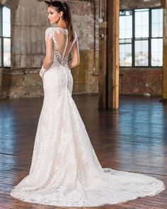 Find More Wedding Dresses Information about Juliana New Luxury Sexy Full Lace Mermaid Wedding Dresses 2017 With Appliques Button Plus Size Bridal Gowns Robe De Mariage WD65,High Quality dress monsoon,China dress barn plus size Suppliers, Cheap dress importer from Bealegantom Wedding Flagships Store on Aliexpress.com