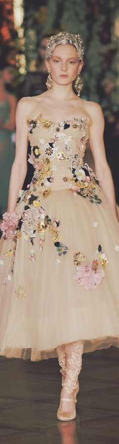 Dolce and Gabbana Alta Moda 2015 Style Haute Couture, Couture Fashion, Runway Fashion, Spring Couture, Fashion Moda, High Fashion, Fashion Show, Fashion Design, Beautiful Gowns