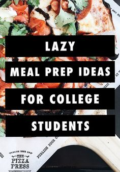 Lazy Meal Prep Ideas for College Students Eating healthy in college isn't always easy or a priority for most students. These lazy meal prep ideas are super easy and quick to put together (as long as you have a crock pot and 20 minutes) and won't leave you Cheap College Meals, Healthy College Meals, College Lunch, College Cooking, Cooking On A Budget, College Student Recipes, Easy Meal Prep, Healthy Meal Prep, Easy Healthy Recipes