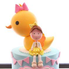 . Fondant Figures, Fondant Cakes, Cartoon Tutorial, Girl Birthday, Birthday Parties, Cookie Cake Birthday, Sugar Cake, Baby Cakes, Cake Tutorial