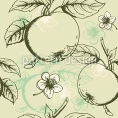 Apple seamless vector - by Artspace on VectorStock® Vektor Muster, Starter Set, Vintage Stil, Surface Design, Vector Free, Tapestry, Illustration, Autumn, Patterns