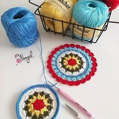 Knitting PatternsCrochet For BeginnersCrochet ProjectsCrochet Bag Crochet Mandala Pattern, Crochet Doilies, Crochet Flowers, Crochet Stitches, Crochet Gifts, Free Crochet, Knitting Patterns, Crochet Patterns, Knit Headband Pattern