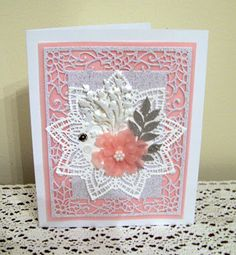 Ann Greenspan's Crafts: Doily Star Cards