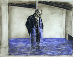 William Kentridge,Drawing from Stereoscope (1998-99), charcoal, pastel and colored pencil on paper, 47-1/4″ x 63″; courtesy MOMA * * * Included in the catalogue accompanyingWilliam Ke…