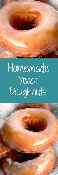 delicious homemade treat, these yeast-raised doughnuts are worth the time and effort! Find recipe at . Beignets, Cannoli, Savarin, Croissants, Churros, Food Processor Recipes, Sweet Tooth, Food And Drink, Dessert Recipes