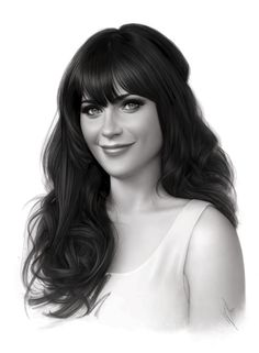 Zooey Deschanel by WarrenLouw.deviantart.com on #deviantART