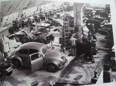1941 PORSCHE WORKSHOP AT ZUFFENHAUSEN - KdF prototypes and development cars.