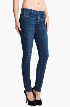 Citizens of Humanity Stretch Skinny Jeans (Dark Blue) | Nordstrom....Not a huge skinny fan, but with boots, they do look nice.  I prefer a dark wash for a more put together look.