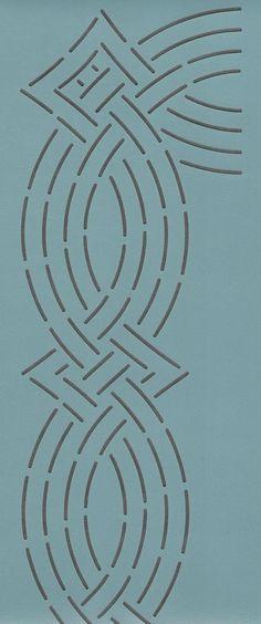 """Basketweave 5"""" - The Stencil Company"""
