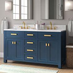 Double Sink Bathroom, Bathroom Sink Vanity, Vanity Set, Master Bathroom, Skylight Bathroom, Ikea Bathroom, Hall Bathroom, Modern Bathroom, Lavatory Faucet