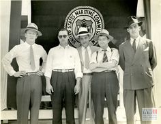 Members of the Delta Shipbuilding Company in New Orleans, Louisiana during World War II. Gift of Earl and Elaine Buras, from The Digital Collections of the National WWII Museum. 1999.060.010.