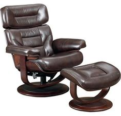 Emillio Leather Essentials Recliner and Ottoman from the Reclining Furniture collection by Lane Furniture