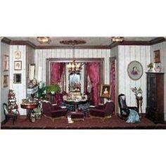 Diorama - Interior parlor with seated woman  Phyllis sturbakov