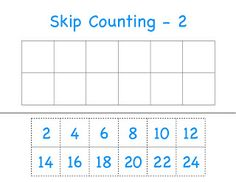 skip counting print outs