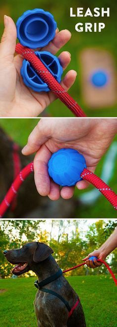 Get a comfortable, controlled grip on your dog's leash. Fasten this sphere wherever you want it and easily reposition for other family members.