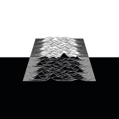 [Unknown Pleasures] Study of the great iconic album cover by Peter Saville    #graphicdesign #blackandwhite #albumcoverstudy #radiowaves #pulsars