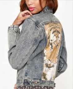 #jacket #tiger #leather would look #better #want