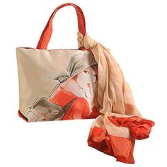 Dupion Faux Silk Tote Bag and Chiffon Scarf Set - Gorgeous Fashion for Women - Orange, Cream and Gray Swayam http://www.amazon.com/dp/B00X3PI1RS/ref=cm_sw_r_pi_dp_MIEQvb0F7HDH8
