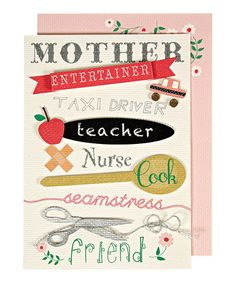 Take a look at this 'Taxi Driver' Mother's Day Card by Meri Meri on #zulily today!