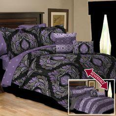 Adria Lavender Reversible 10 Piece Comforter Set $100.00