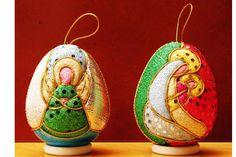 pesebres en icopor - Buscar con Google Quilted Christmas Ornaments, Christmas Crafts, Merry Christmas, Styrofoam Ball, Holy Night, Ball Ornaments, Xmas Decorations, Xmas Gifts, Decor Crafts