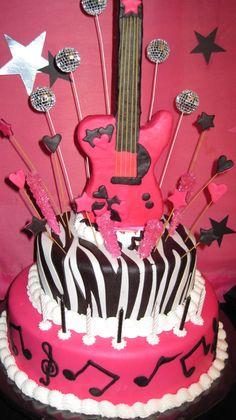 Resultado de imagen para tortas de musica  para nenas de 8 años
