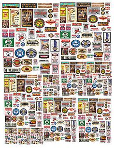 1-24-1-32-1-64-1-64-MECHANIC-GARAGE-SIGNS-DECALS-FOR-DIECAST-DISPLAY-DIORAMAS